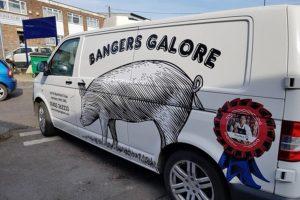 Bangers Galore sausage delivery van