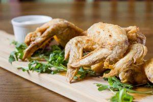 roast chicken sharing platter and dip
